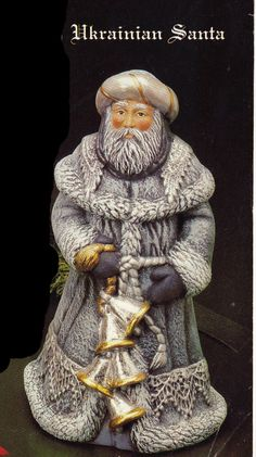 Old World Santa,Ukranian santa, Kimple santa, Collectible santa, Christmas Ukrainian Christmas, Father Christmas, Santa Christmas, Vintage Christmas, Xmas, Christmas Crack, Christmas Ideas, Ukraine, Green Santa