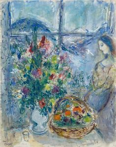 Marc Chagall, Le Paysage d'Hiver - 1971 on ArtStack #marc-chagall #art