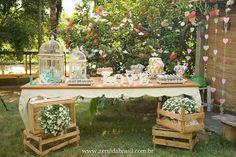 Meu-Dia-D-Noivado-Lorena … in 2020 (With images) Chic Wedding, Rustic Wedding, Wedding Reception, Dream Wedding, Wedding Day, Baby Shower Centerpieces, Baby Shower Decorations, Wedding Decorations, Event Decor