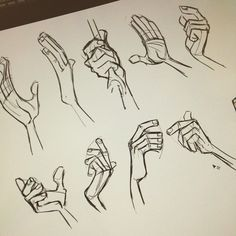 New goal: start the day off with ten hand studies. Looking at Milt Kahl, cause he's the best.