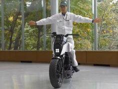 Futuristic Motorbike, Honda Riding Assist, Self-Balancing Motorcycle