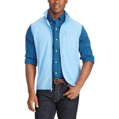 Big & Tall Chaps Classic-Fit Microfleece Vest, Men's, Size: Xl Tall, Blue