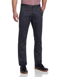 Dockers Men's Alpha Khaki Slim Tapered Flat Front Pant, Hurricane, 28x30