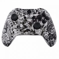 Mod Freakz Xbox One Controller ShellButtons Hydro Dipped Grave White Skull Not a Controller  Does Not Have a Headphone Jack * Want additional info? Click on the image.
