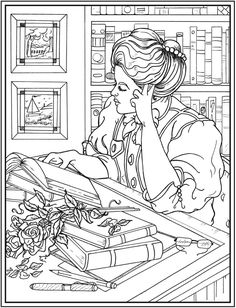 Creative Haven American Beauties Coloring Book Page 2/4