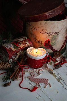 ~ It's the Holiday Season ~ Christmas Hearts, Noel Christmas, Christmas Is Coming, Little Christmas, Christmas Colors, All Things Christmas, White Christmas, Christmas Decorations, Hygge Christmas