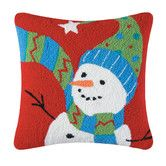 Found it at AllModern - Festive Frosty Hooked Cotton Throw Pillow