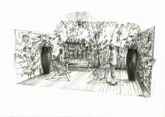 Contemporary Courtyard - Society of Architectural Illustration