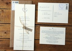 Simple, rustic invitations from Etsy