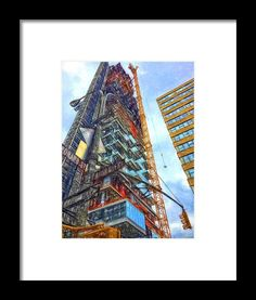 Skyscraper Pieces Framed Print By Alice Gipson