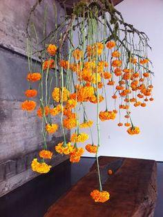 Most Beautiful Orange and Yellow Flowers - Dekoration - Blumen Arte Floral, Deco Floral, Floral Design, Yellow Wedding Flowers, Orange Flowers, Faux Flowers, Ikebana, Hanging Centerpiece, Flower Installation