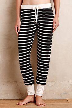 Cuffed Stripe Loungers #loungewear
