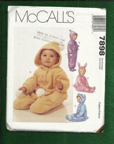 McCalls 7898 Baby  Bunny Ear Buntings or Snow by DaisyMaeandMe, $8.00