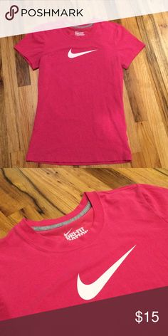 NIKE DRI - FIT pink cotton tee Good condition. Nike Tops Tees - Short Sleeve