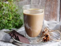 Pumpkin chicory latte with cocoa