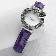 Silver Rose Watch