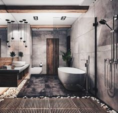 "3,501 tykkäystä, 13 kommenttia - Luxury Aficionado (@classysavant) Instagramissa: ""Classy Rustic Bathroom 👌🏾 Rendered by @katya_fill #classysavant"""