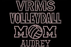 Volleyball Mom Rhinestone Transfer DIY... Personalized Option add TEAM Name & CHILD Name/# Optional Shirt Add On Available sold separately from www.BeadyEyesOnline.com #BeadyEyesOnline