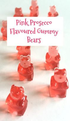 Who doesn't like those little gummy bear sweets? Well this adult version of them makes grown up Prosecco flavoured gummy bears and they're AMAZING! Champagne Gummy Bears, Pink Prosecco, Prosecco Cocktails, Prosecco Cake, Pina Colada, Recipe For Teens, Frugal Family, Acapulco, Sweets