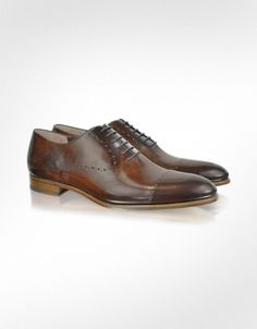 Fratelli Rossetti Dark Brown Leather Oxford Shoe | FORZIERI