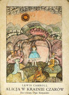 Versión en polaco de Alicia en el País de las Maravillas con ilustraciones de Olga Siemaszko