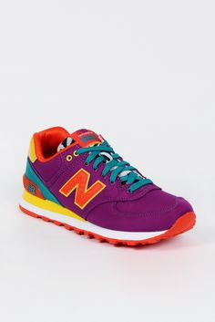 New Balance, Womens Lifestyle 574, purple/yellow/green http://www.goodasgold.co.nz/collections/new-balance
