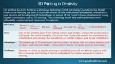 Read a very insightful article on DENTAL BUSINESS AND PROSPECTS OF 3D PRINTING IN DENTISTRY @ https://www.yourhealth-key.com/…/Dental-Business-and-Prospe… #DentalBusiness #3DPrinting #DigitalDentistry #DevelopingCountries #India #Dentists #Doctors #Health #Healthcare