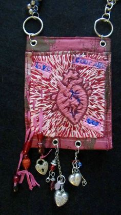 Items similar to My Bleeding Heart on Etsy Old Pottery, Human Heart, Tiny Treasures, Embroidery Thread, Crochet Earrings, Antiques, Fabric, Pattern, Crafts