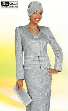 Ben Marc Silver Womens Church Suit 4533