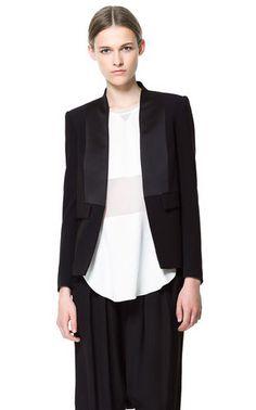 Zara Black TUX Blazer Jacket Size Small | eBay