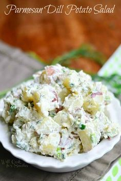 Parmesan Dill Potato Salad - Will Cook for Smiles
