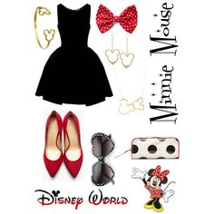 """""""Minnie Mouse"""" Outfit<3 by midsummersdreaming on Polyvore"""