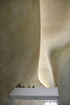 The Museum of History of Polish Jews designed by Finnish architects Rainer Mahlamäki and Ilmari Lahdelma