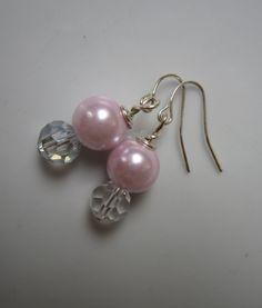Kathryn Bridal Pearl Earrings Pink Pearl & by ScarlettRose. $12.00, via Etsy.