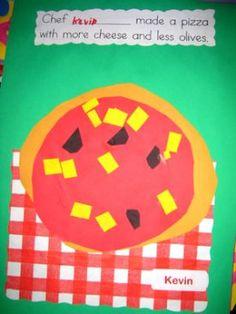 juf Florine :: mmmmm pizza knippen en plakken