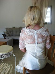 Kiss Me In BARILOCHE white bridal lace top white by angelikaliv, $87.90