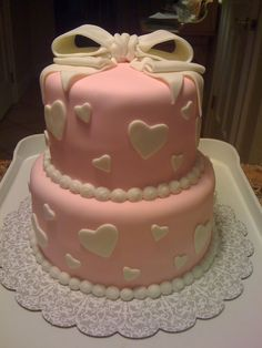 Bridal shower cake.