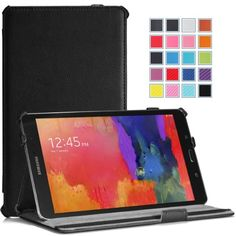 Moko Samsung Galaxy Tab PRO 8.4 Case - Slim-Fit Multi-angle Folio Cover Case for Galaxy TabPRO 8.4 Android Tablet, BLACK (With Smart Cover Auto Wake / Sleep. WILL NOT Fit Samsung Galaxy Tab 4 8.0) MoKo http://www.amazon.com/dp/B00HYPN678/ref=cm_sw_r_pi_dp_a9Qjvb0GWJRKB