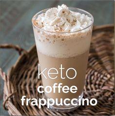 Keto Coffee Recipe, Coffee Drink Recipes, Vanilla Coffee Frappuccino Recipe, Blended Coffee Recipes, Healthy Coffee Drinks, Blended Coffee Drinks, Cold Coffee Drinks, Keto Coffee Creamer, Low Carb Keto