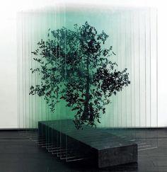 Three Dimensional Glass Sculpture of a Tree   Ardan Özmenoglu