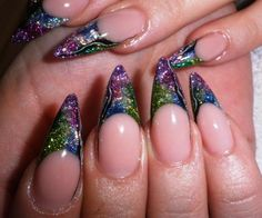 Acrylic nails with glitter. | NAILPRO