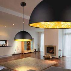 LAMPA wisząca OKKO 15166S Globo metalowa OPRAWA zwis kopuła mozaika czarna złota