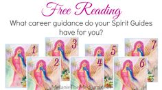 This is a great way to get career guidance from Spirit Guides. Pick a card :)