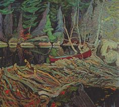Beaver Dam by Tom Thomson. Tom Thomson, influential Canadian artist of the early century. He directly influenced the Group of Seven, although he tragically died before that group was formed. Emily Carr, Group Of Seven Artists, Group Of Seven Paintings, Winter Landscape, Landscape Art, Landscape Paintings, Landscapes, Oil Paintings, Small Paintings