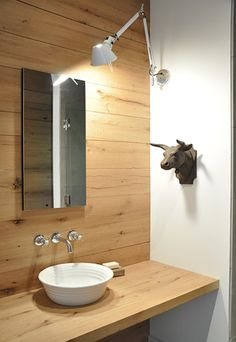 Wood Walls in the Bathroom  #country