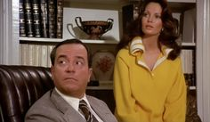 David Doyle as Bosley with Jaclyn Smith on Charlie's Angels.
