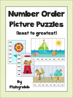 Picture puzzles for ordering numbers least to greatest