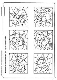 disgrafía 3 - ayl-psicopeda - Picasa webbalbum Preschool Writing, Preschool Activities, Coloring For Kids, Coloring Pages, Figure Ground Perception, Free Printable Puzzles, Kindergarten, Vision Therapy, Doily Patterns