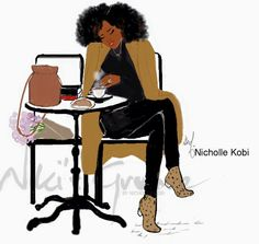 Founder of Nicholle Kobi Studios and Nikisgroove Brand. Nicholle is Black French Illustrator mostly know for her Black women 's Art work Nicholle Kobi is also a Visual Artist , Fashion enthusiast , a Speaker. Black Girl Art, Black Girls Rock, Black Love, Black Is Beautiful, Black Girl Magic, Black Women Quotes, Black Women Art, Montmartre Paris, Zendaya