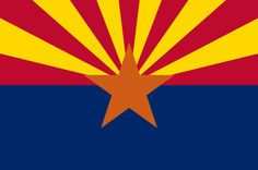 "Illustration: state flag of Arizona. Source: Wikimedia Commons. Read more on the GenealogyBank blog: ""Arizona Archives: 73 Newspapers for Genealogy Research."" http://blog.genealogybank.com/arizona-archives-73-newspapers-for-genealogy-research.html"